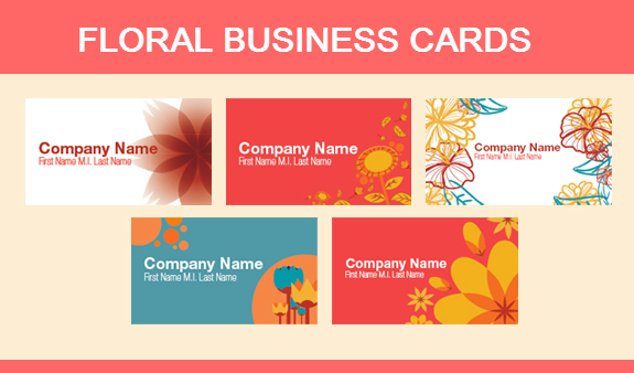 Floral Business Card Designs