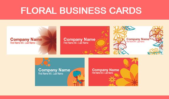 Floral Business Card Designs