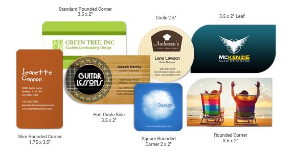 Die-cut Business Card Sizes