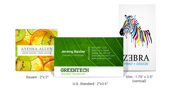 Standard Business Card Sizes