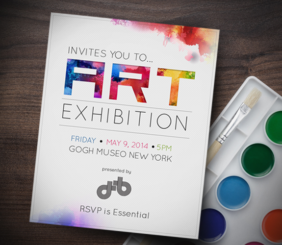 Art show invitation template pictures to pin on pinterest pinsdaddy invitation stopboris Image collections