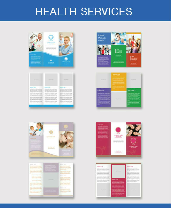 Standard brochure printing sizes for Health pamphlet template