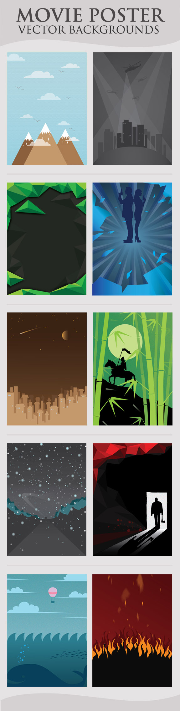Movie Poster Vector Backgrounds